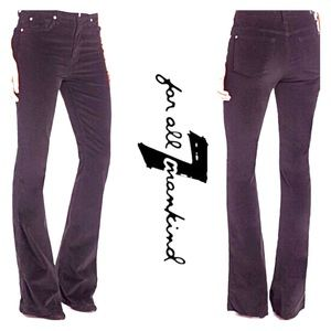 7 For All Mankind Maroon Corduroy Bootcut Pants 24